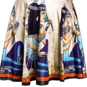 Dresses & Skirts - Retro Egyptian Silky Skater Circle Skirt